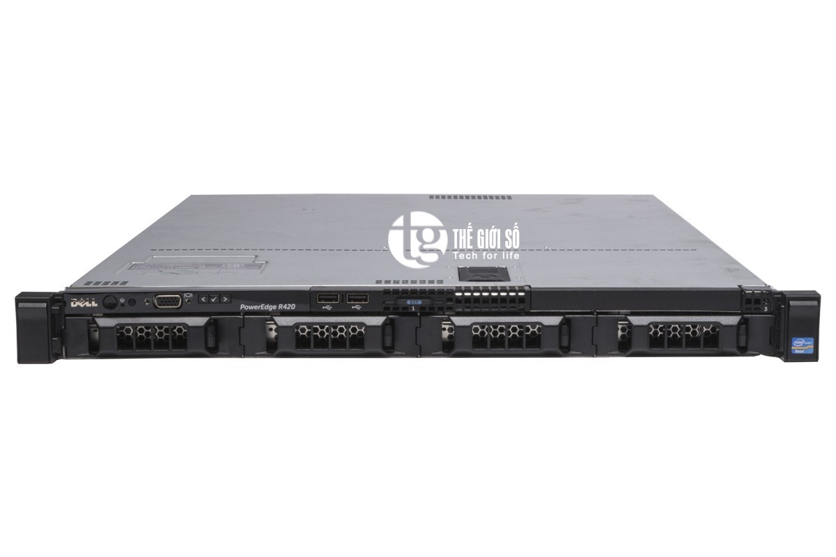 SERVER DELL POWEREDGE R420 - E5-2407v2, 4-Core E5-2407v2 2.4GHz, 10M Cache, 6.4GT/s QPI