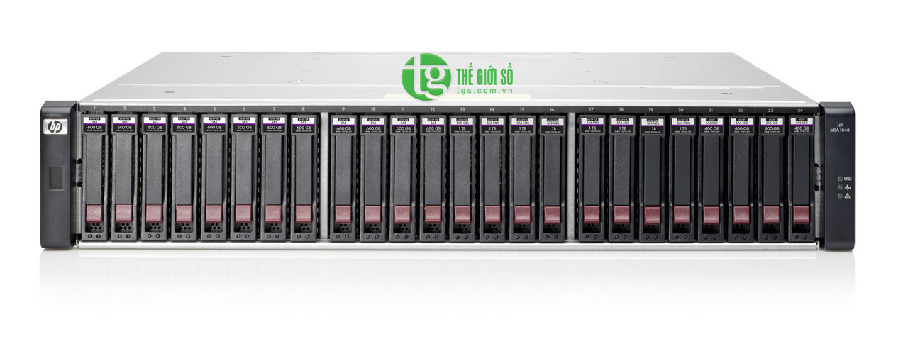 HP MSA 1040 2-port Fibre Channel Dual Controller SFF Storage (E7W00A)
