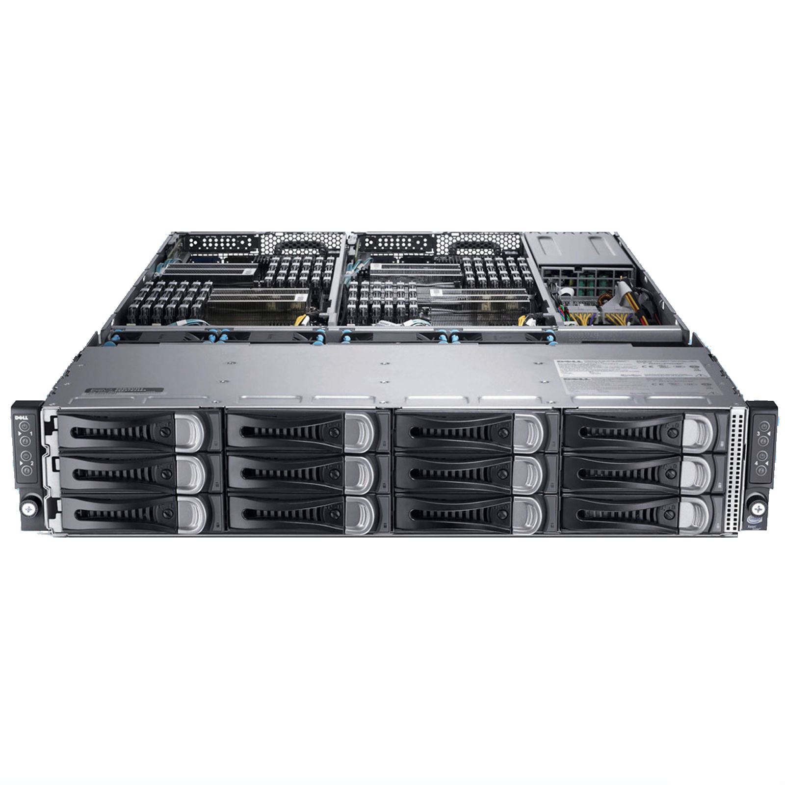 SERVER DELL POWEREDGE C6220 8 x E5-2670 - RAM 64G - PS 1400W – LFF