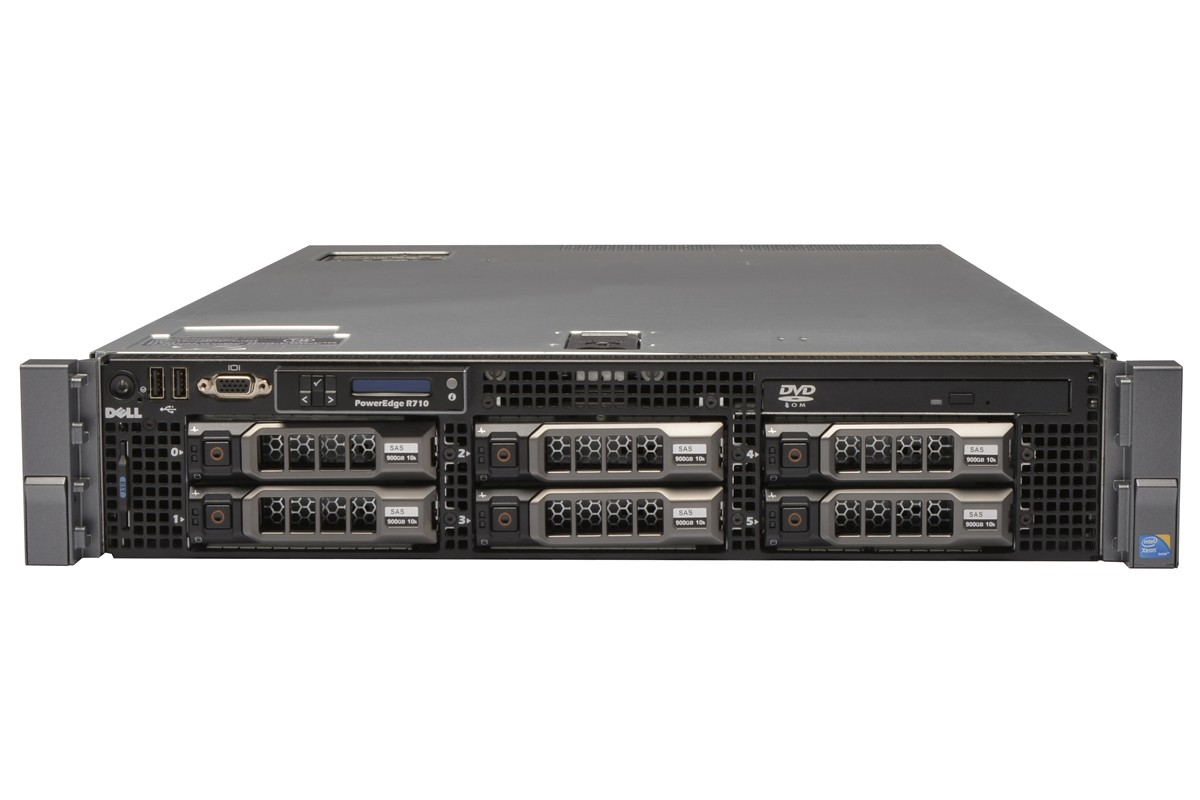 SERVER DELL POWEREDGE R710 E5645 (2.4GHZ 12MB CACHE) HDD 3.5