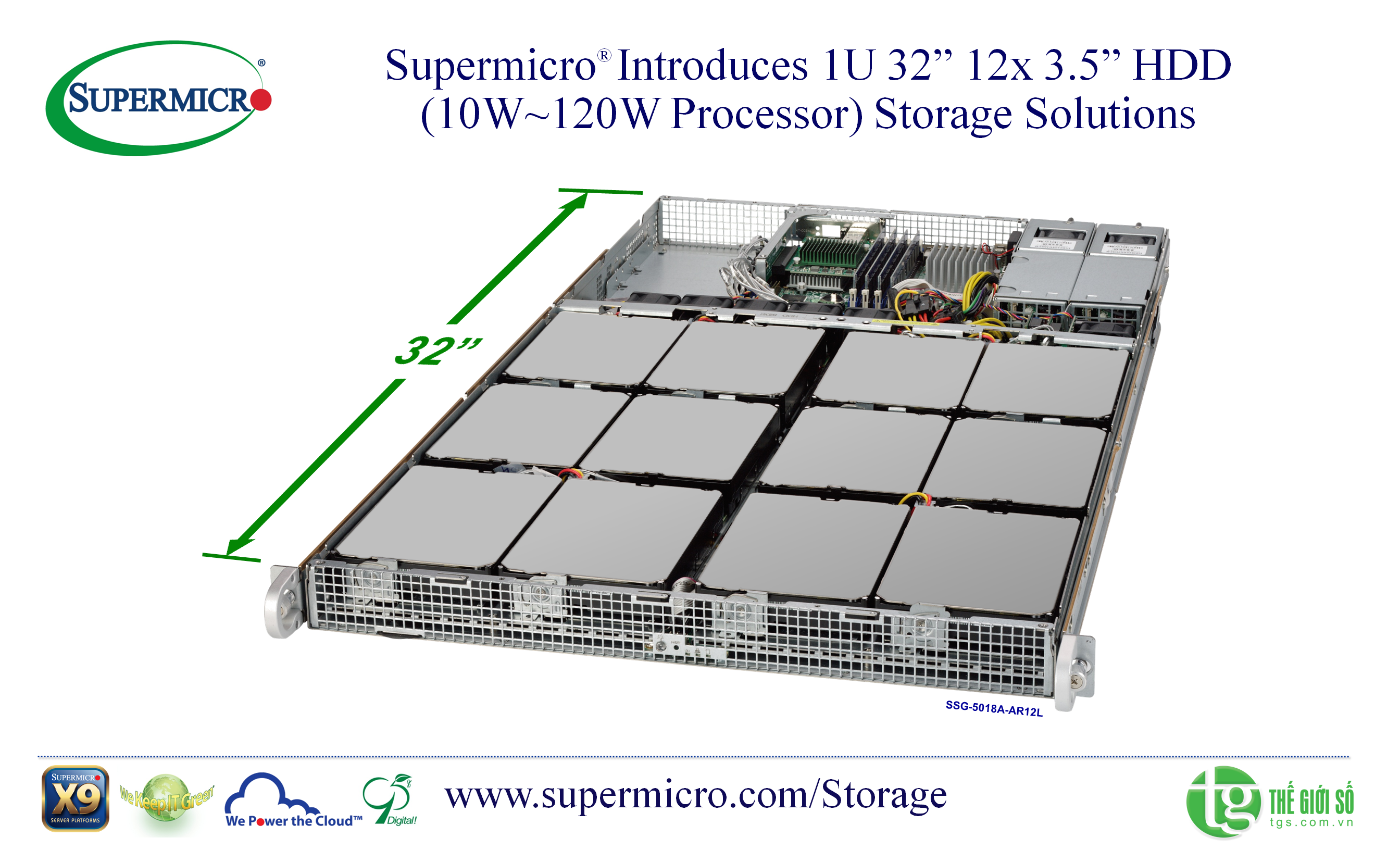 Supermicro SuperStorage Server 5018D2-AR12L